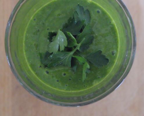 Groene smoothie met peterselie