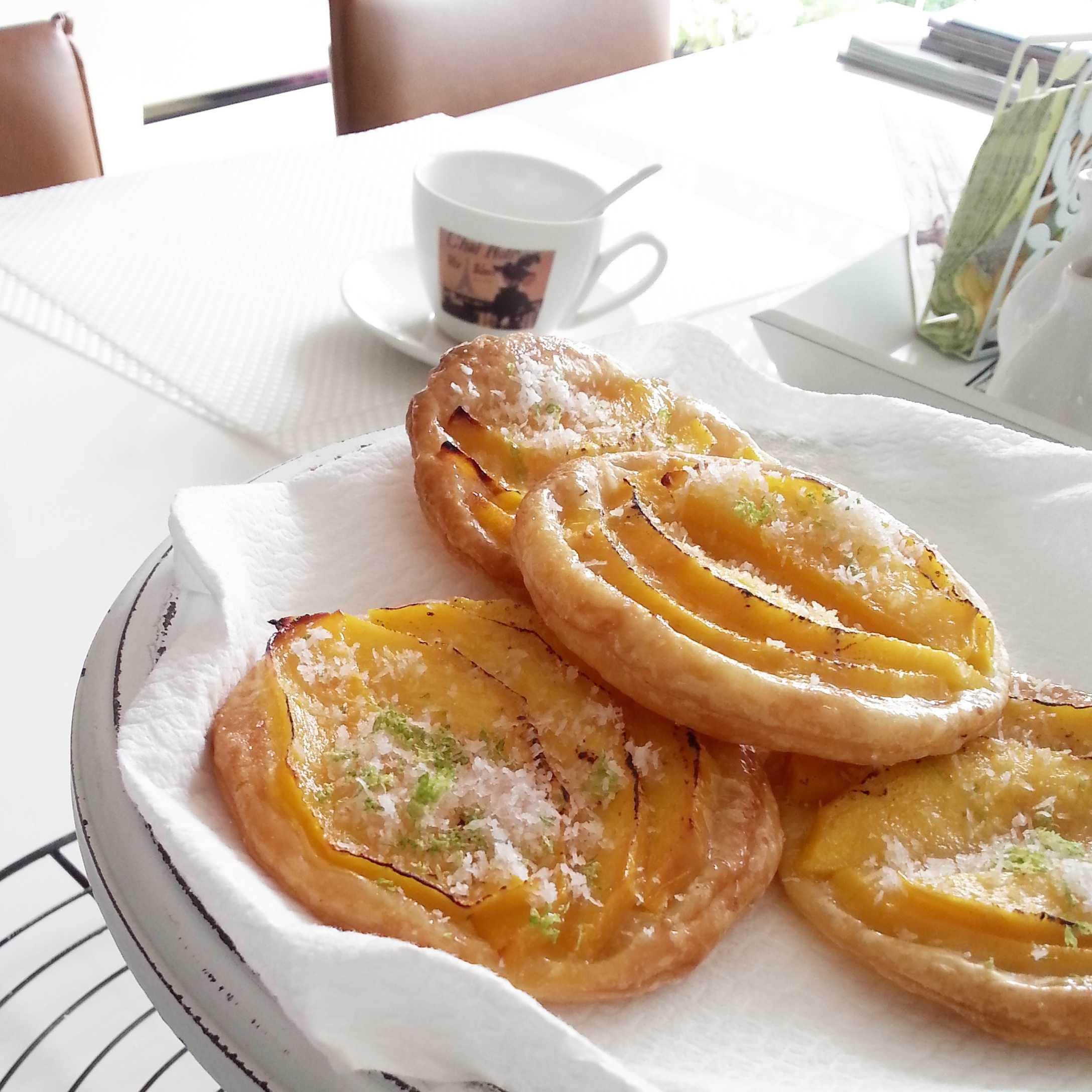 Mango bites, bladerdeeg met mango