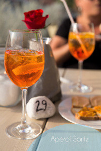 Aperol Spritz bij Ristorante L'andana