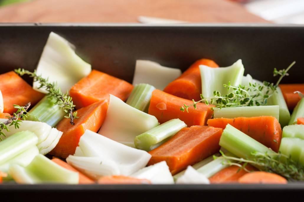 Snijden van de groente