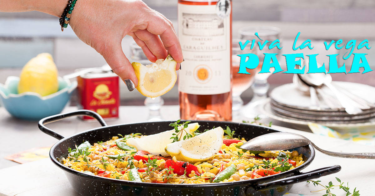 Voor by the grape maakte wij deze heerlijke vegetarische paella.