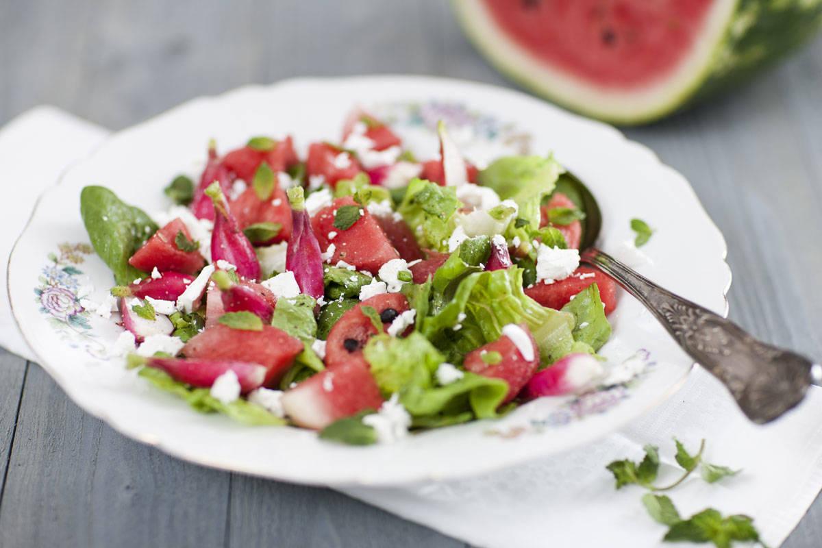 watermeloen salade met munt en feta 5
