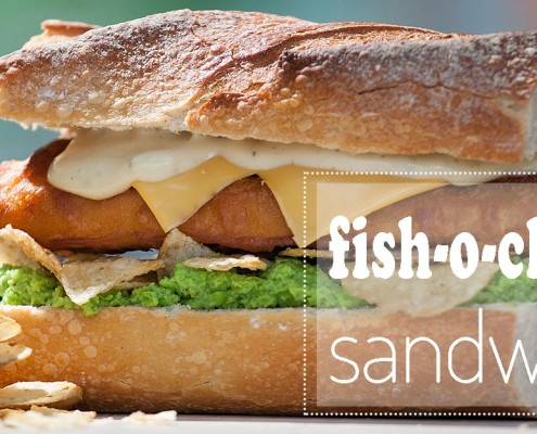 fish-o-chips sandwich