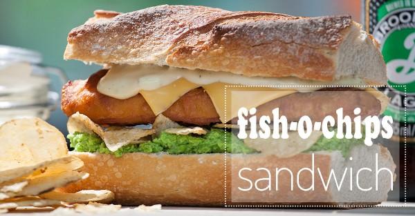 fish-o-chips sandwich