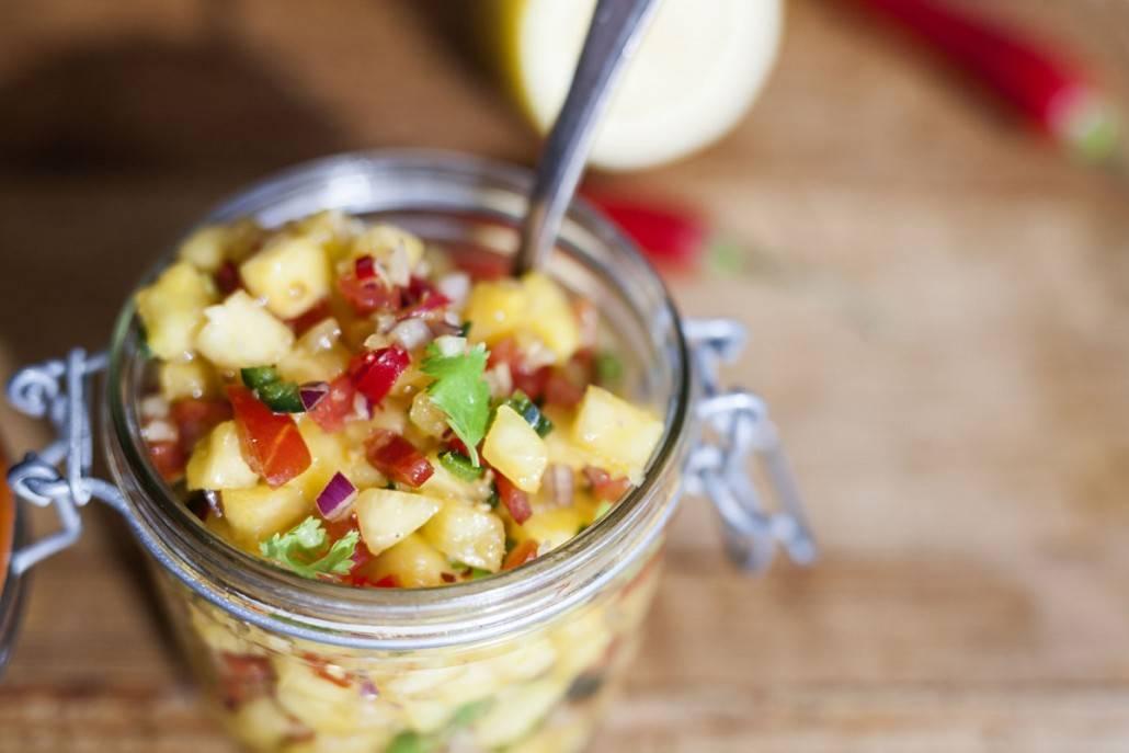 pittige ananas salsa