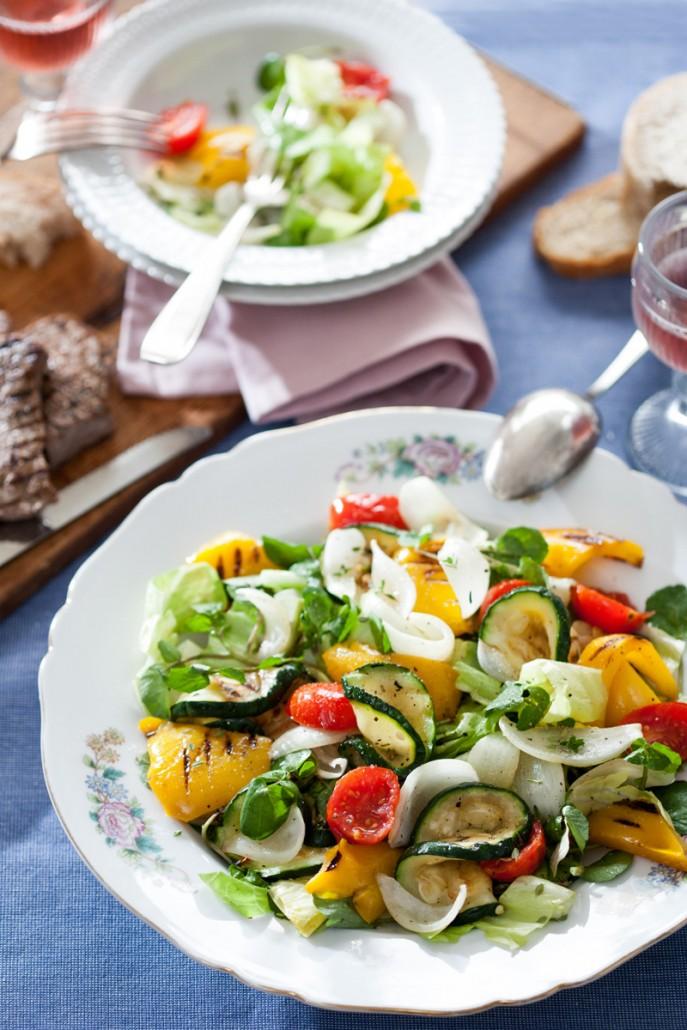 Groenlof salade met gegrilde groenten 4
