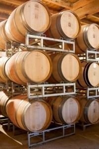 De wijnvaten van Domaine de fontenelles