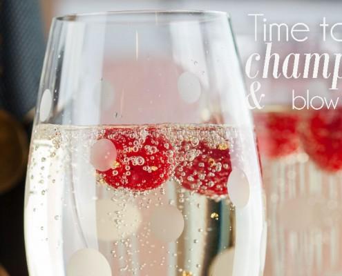 champagne en vodka cocktail