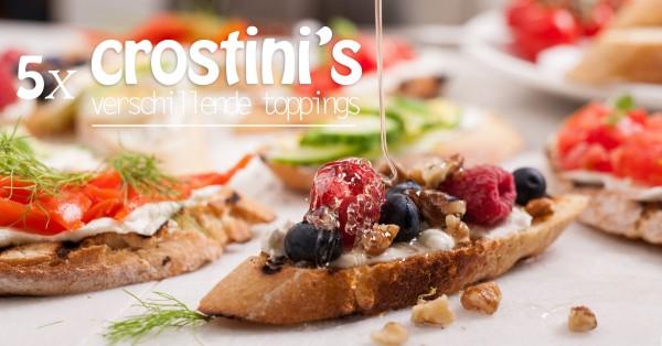 Crostini's met verschillende toppings