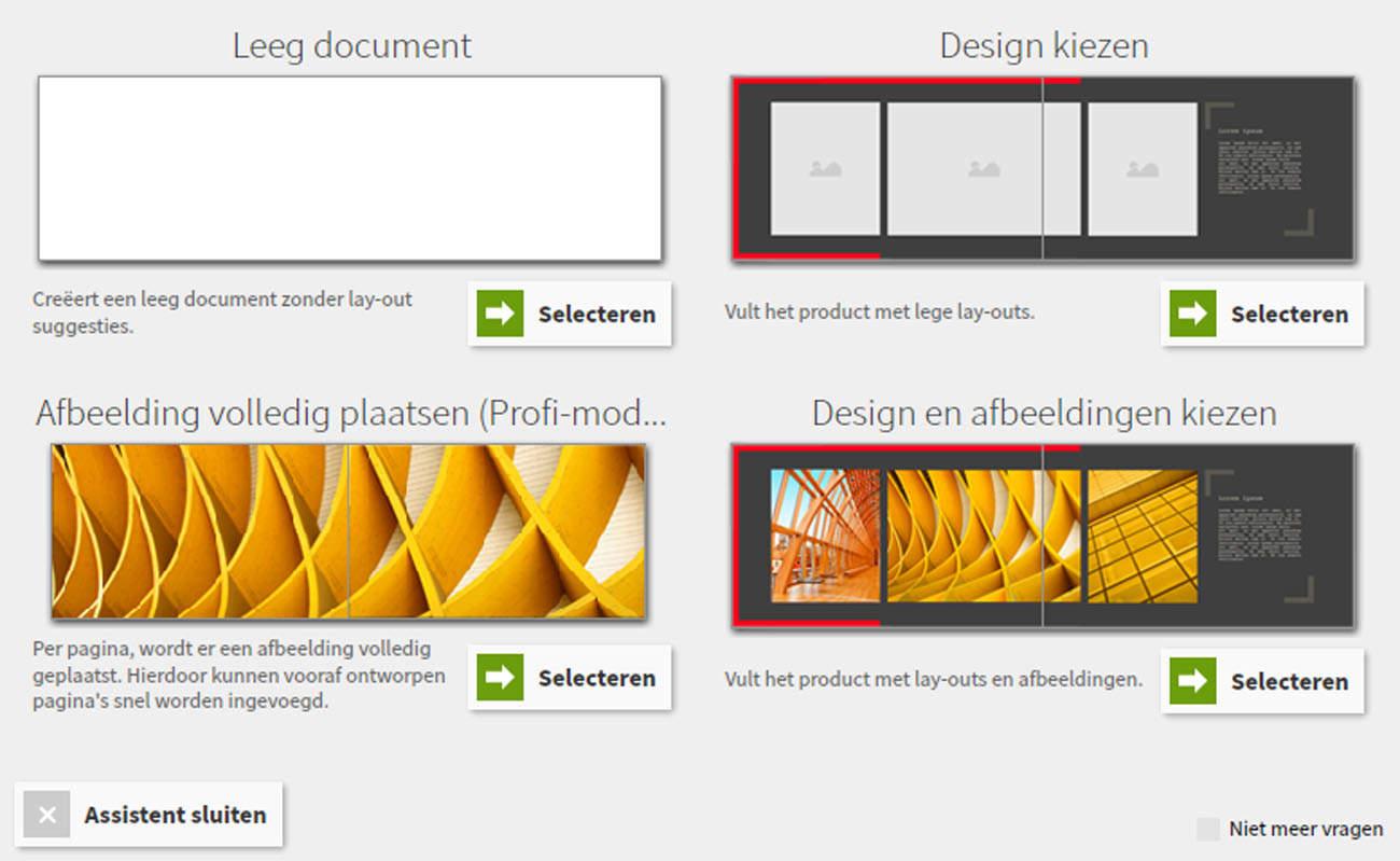 Saal Digital - verschillende templates
