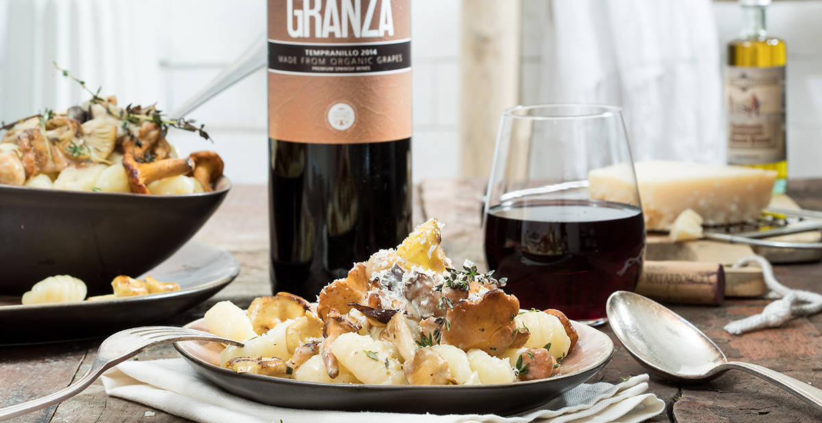 By the Grape paddenstoelen met gnocchi