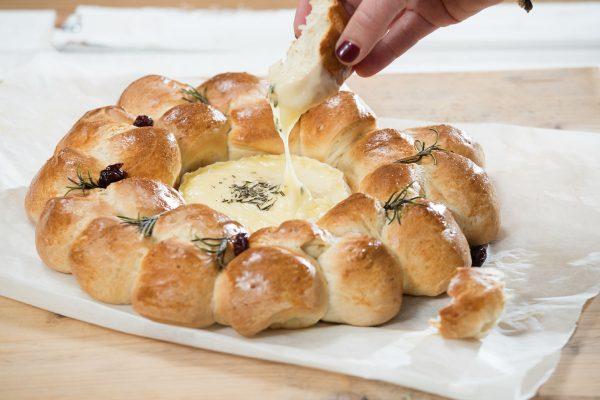 Deelbrood met camembert