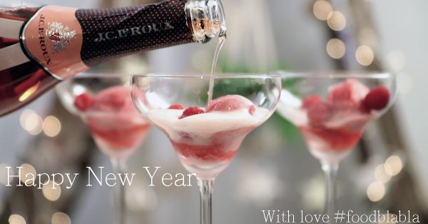 bubble float champagne met sorbetijs en framboos