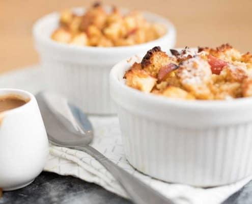 Muffin pudding met of zonder karamelsaus | een stoer nagerecht