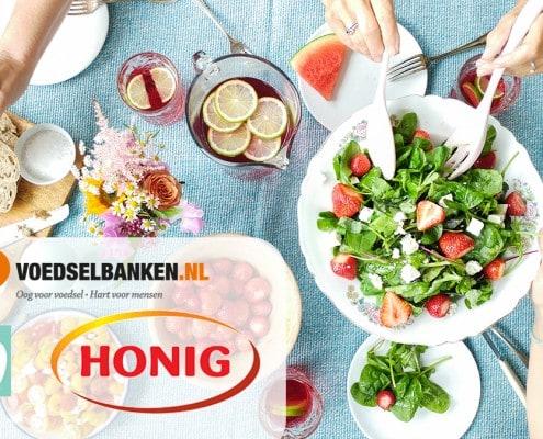 Samen aan tafel met Honig voor de voedselbanken
