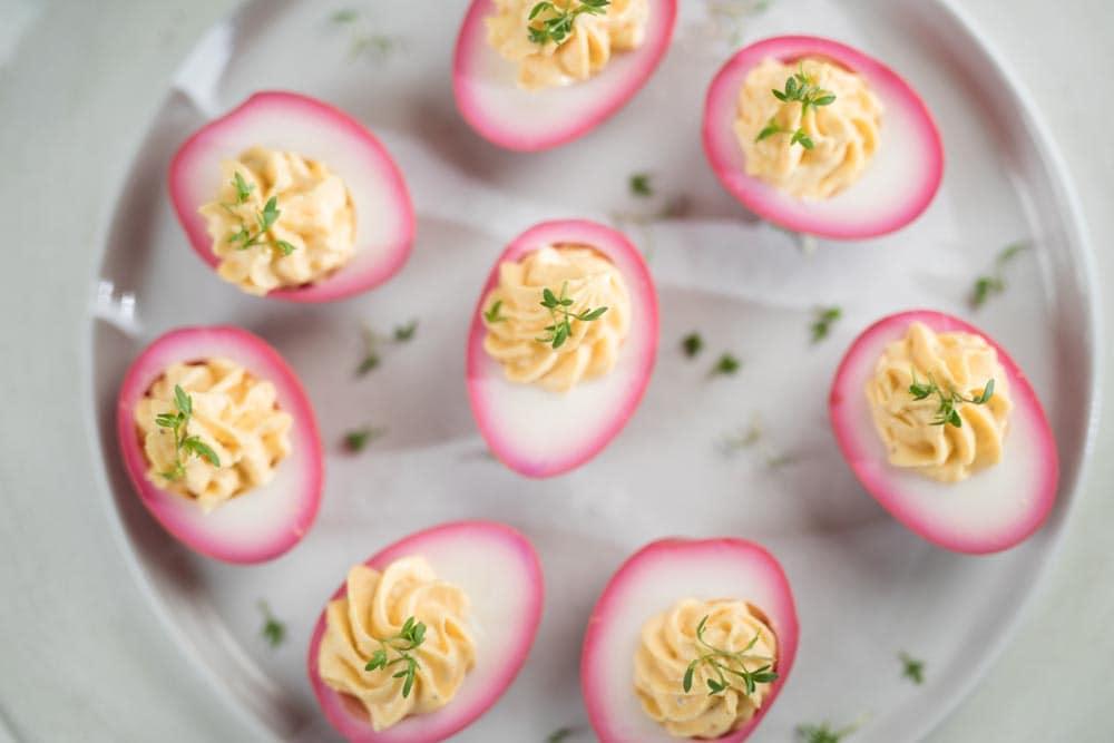 gemarineerde gevulde eieren - deviled eggs