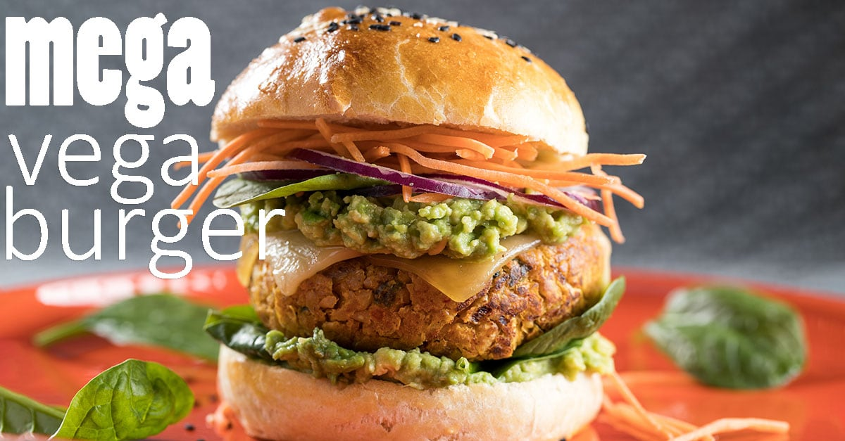 Mega Vega Burger, de pittige vegetarische burger
