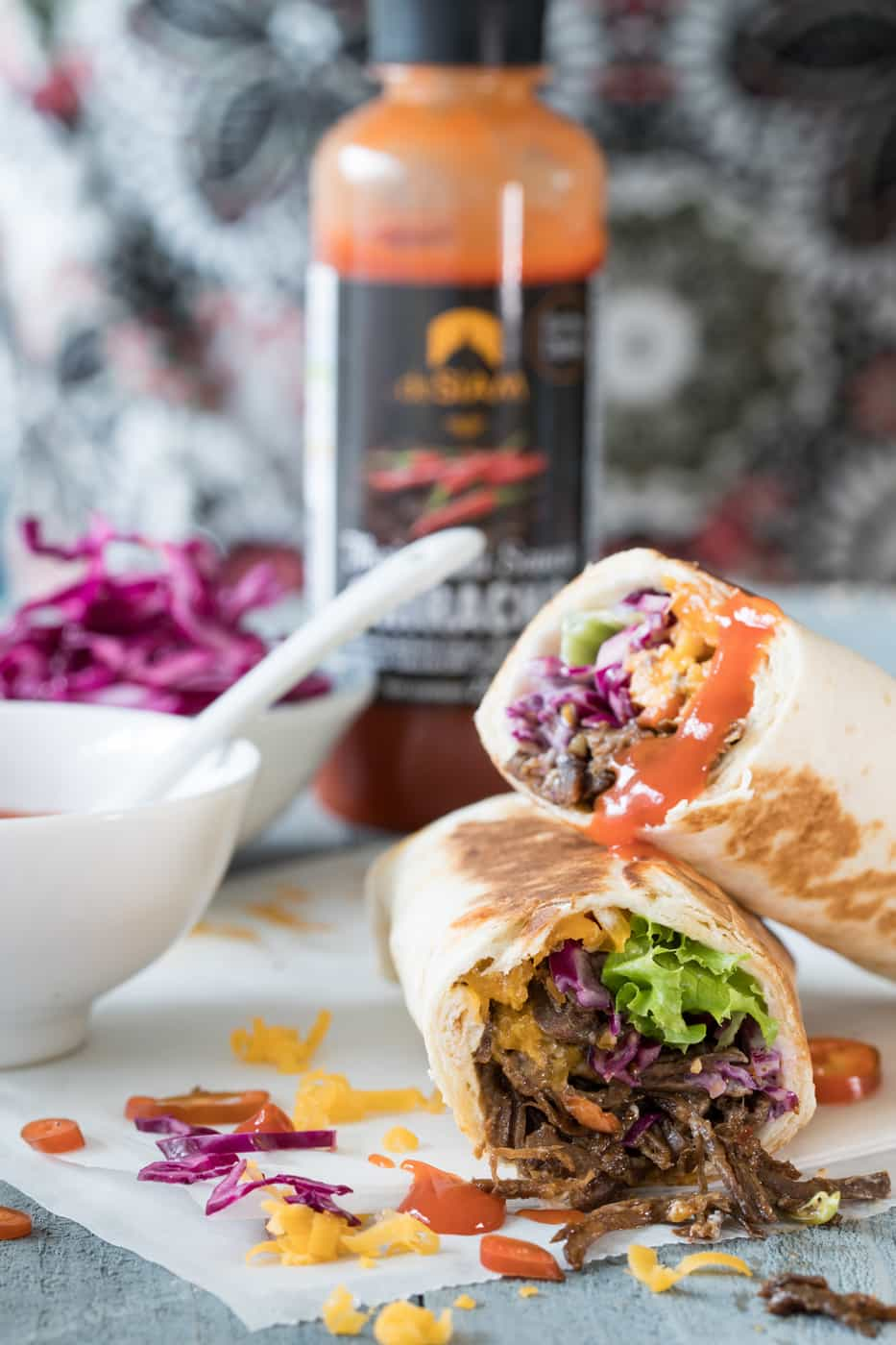 Bulled Beef met wraps