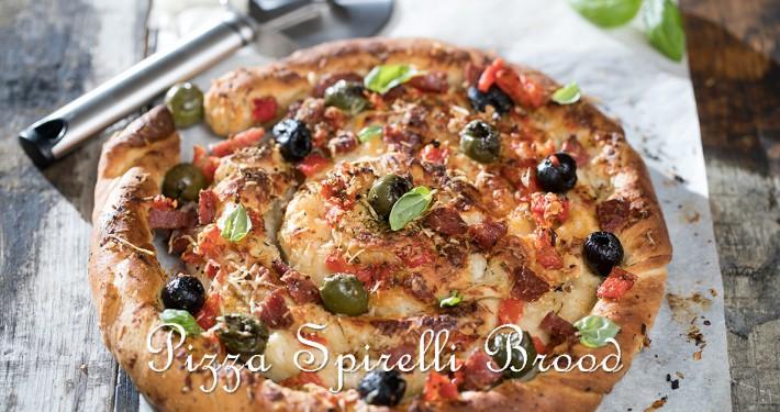 Pizza Spirelli Brood snel klaar met kant en klaar pizzadeeg