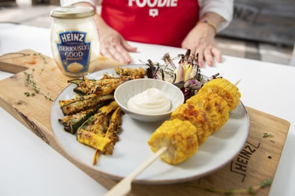 Courgette Parmezaan frietjes met Heinz seriously good mayonaise