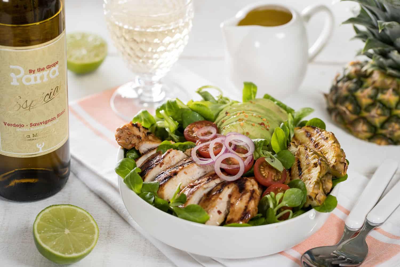 Salade met kip & Ananas