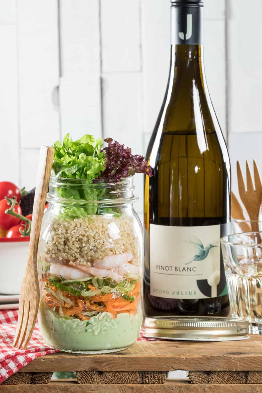salad on to go jar