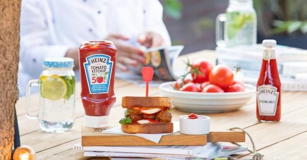 Tosti gehaktbal met Heinz Tomato Ketchup