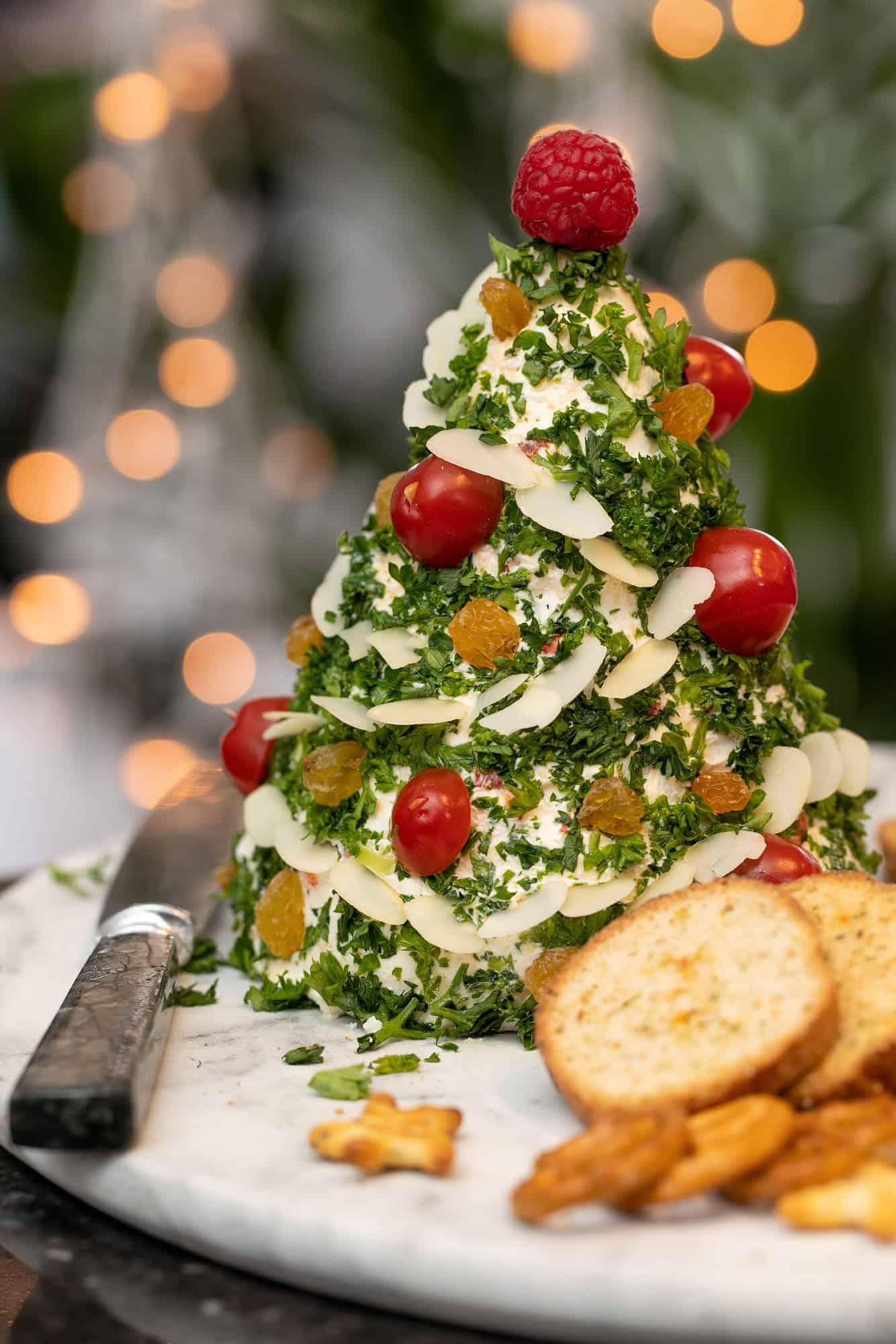 Kaas kerstboompje van monchou roomkaas