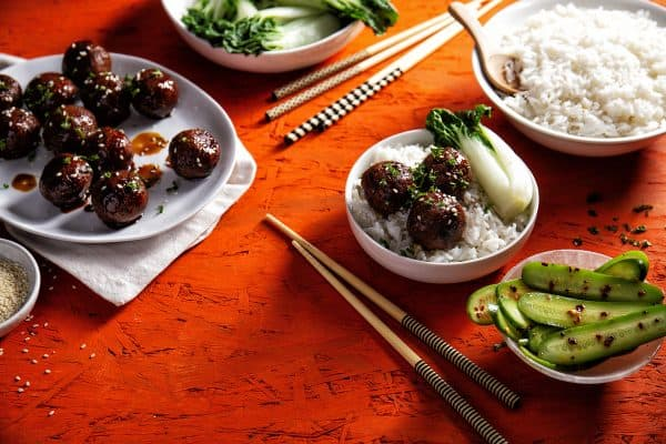 Teriyaki bonenballetjes foodies
