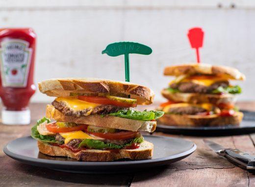 dubbel burger sandwich