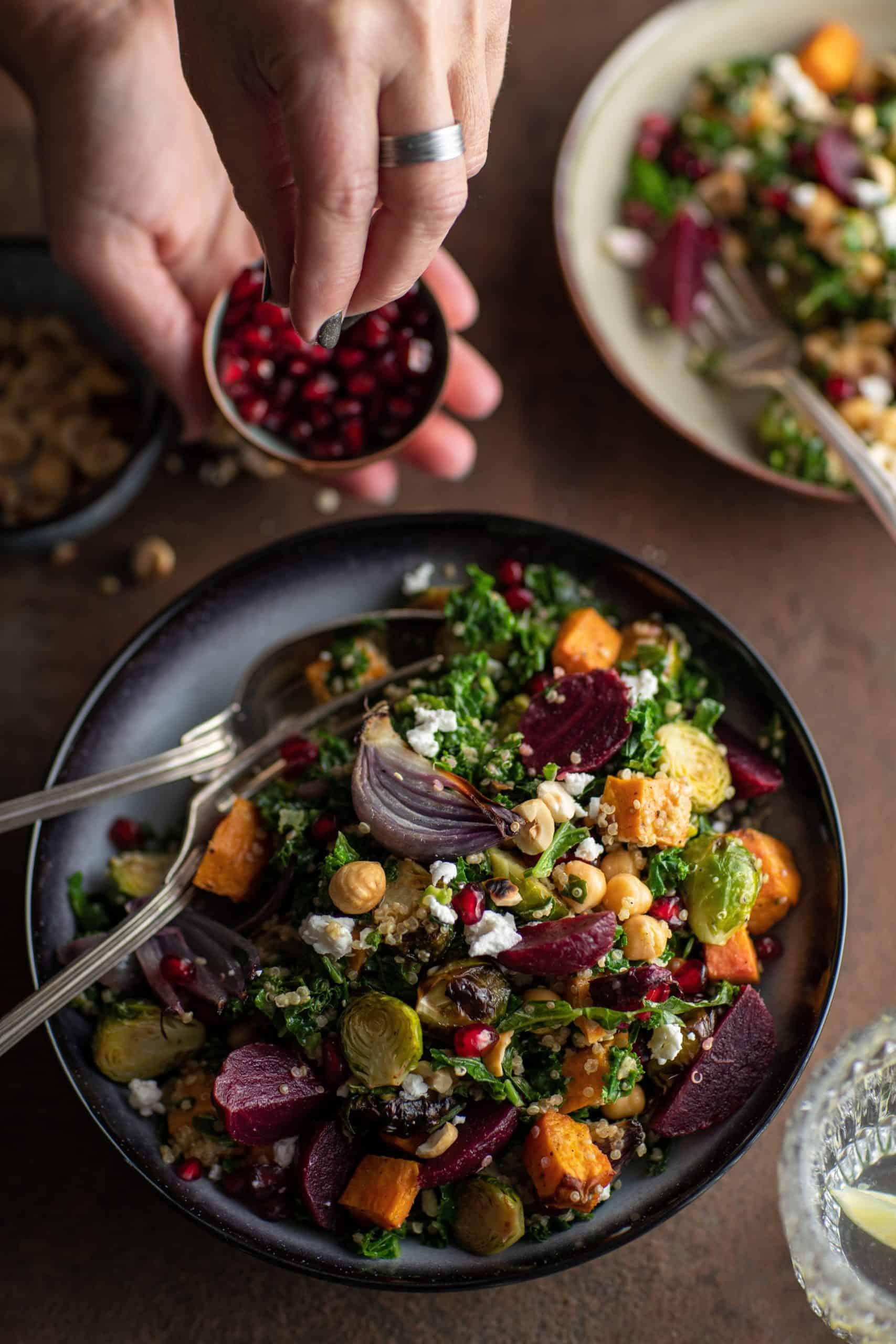 Feestelijke winter-salade