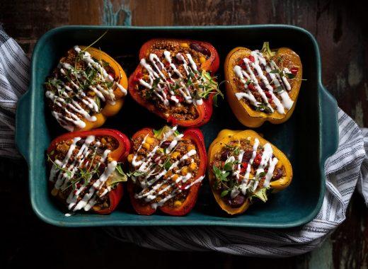 Goed Gevulde Paprika's (vegetarisch)