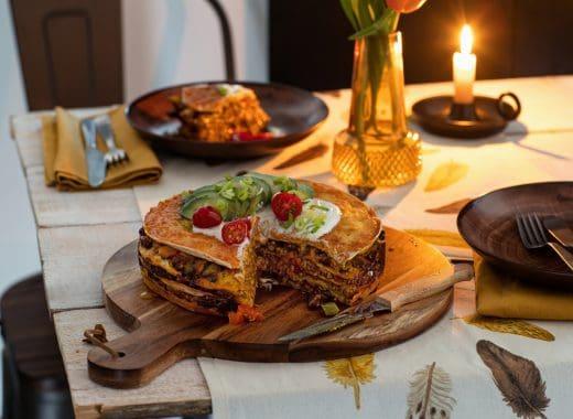 Mexicaanse tortilla taart