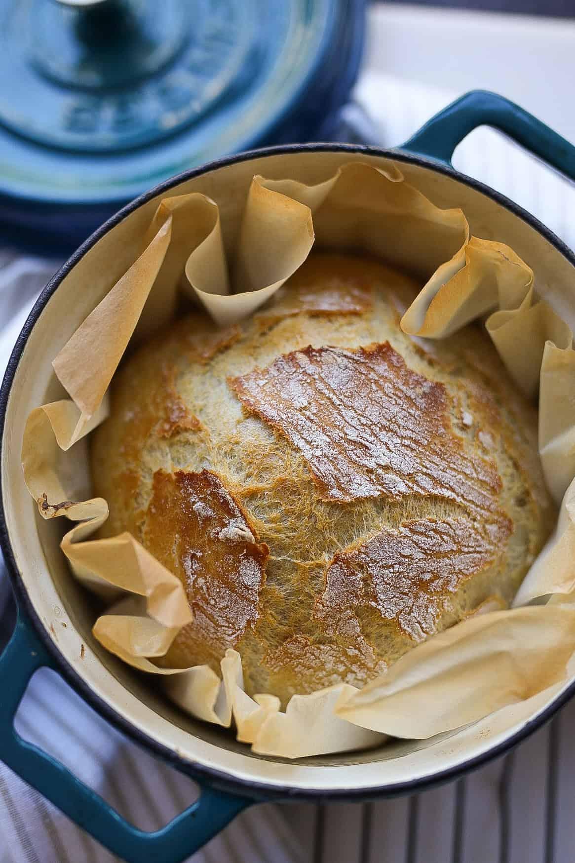 Brood gebakken in een pan