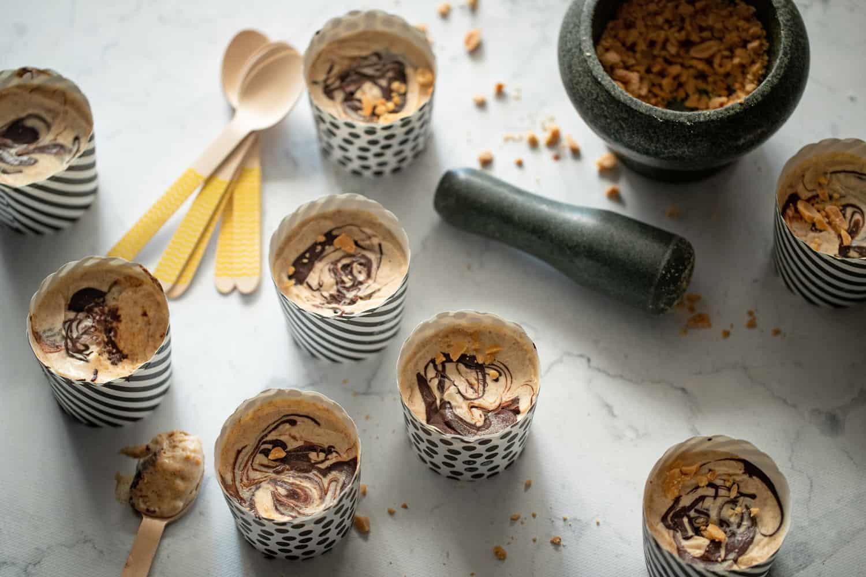 Pindakaas IJsjes met Chocolade