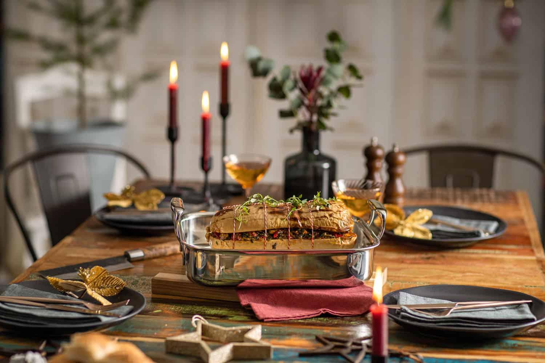 Vegetarische pompoenrollade - Kerst vier je met BK