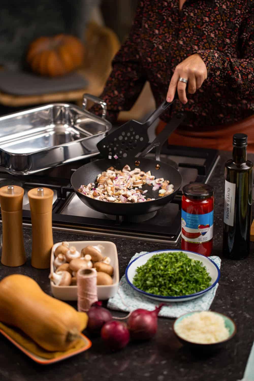 Vegetarische pompoenrollade - Kerst vier je met BK - 12